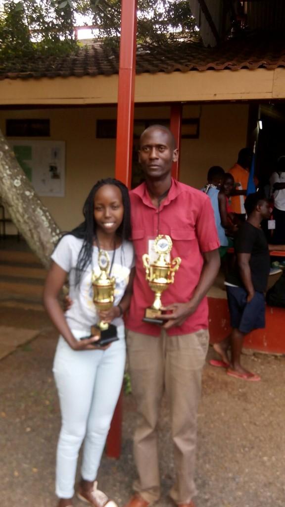 Victor Ongono poses with Cecilia Nyambura